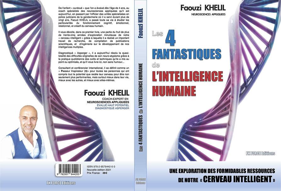 Couverture complète - Livre _Les 4 fantastiques de l'intelligence humaine_ - Faouzi KHELIL