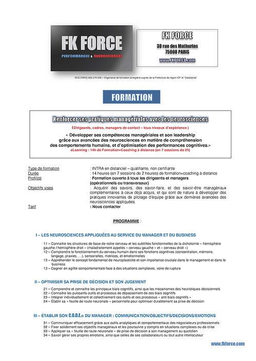 FK FORCE - Programme %22Optimiser ses pr