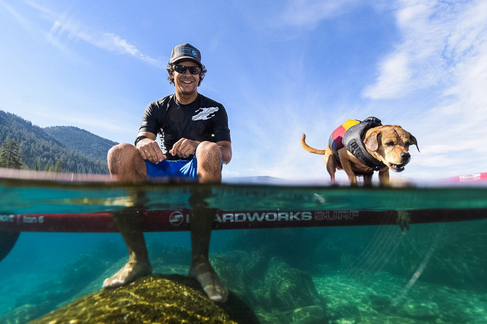 Sup Shredding with your furry friend!