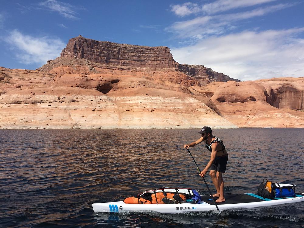 Bradley Cruising the endless Flat Water