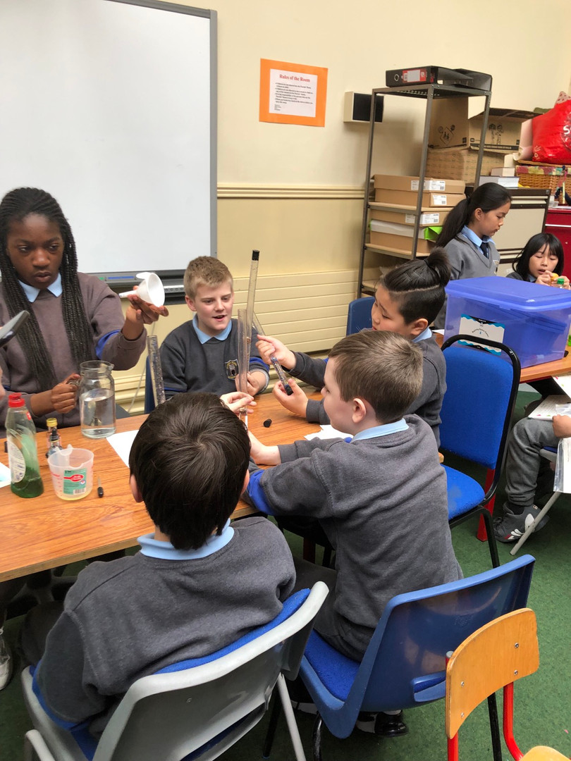 Making 'lava lamps' using oil and water