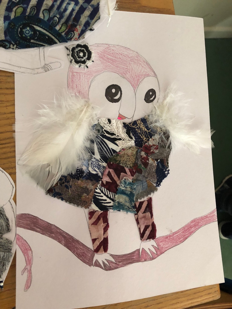 Owl collages