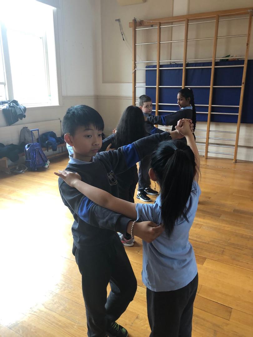 Hong Bo and Yu Ying waltzing