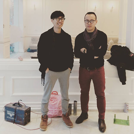 founder Kim Tae In and Nguyen Hoang Hiep