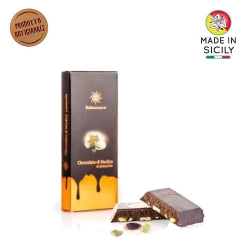 Cioccolato di Modica IGP pistacchio 100 gr Sicilia Tentazioni