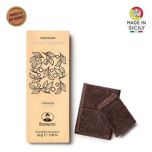 Cioccolato Noce Moscata 50gr Bonajuto