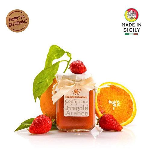 Confettura extra di fragole e arance 240 gr Sicilia Tentazioni