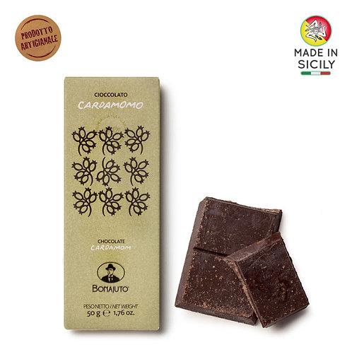 Cioccolato Cardamomo 50gr Bonajuto