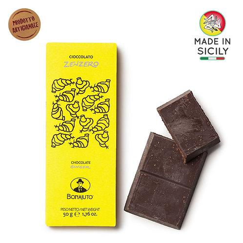 Cioccolato Zenzero 50gr Bonajuto