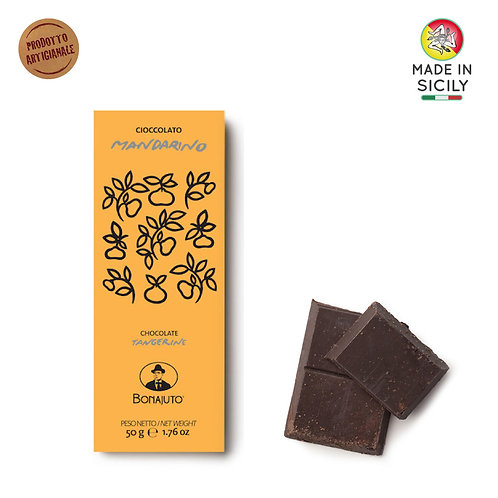 Cioccolato Mandarino 50gr Bonajuto
