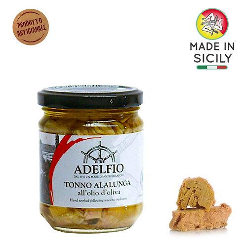 Tonno Alalunga all'olio d'oliva 200gr Adelfio