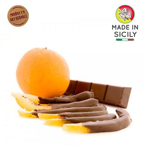 Scorzette di arancia al cioccolato