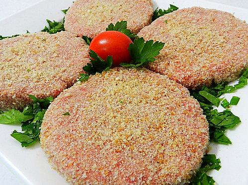 Hamburger di bovino panati