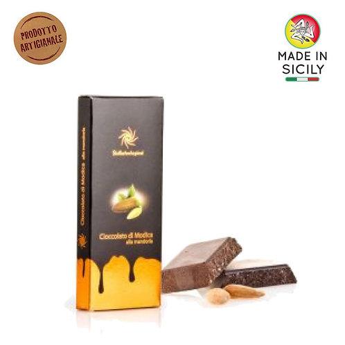 Cioccolato di Modica IGP mandorla 100 gr Sicilia Tentazioni