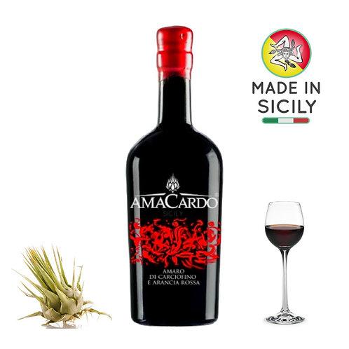 Amaro di carciofino selvatico dell'Etna e arancia 0,50l Amacardo
