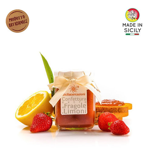 Confettura extra di fragole e limoni 240 gr Sicilia Tentazioni