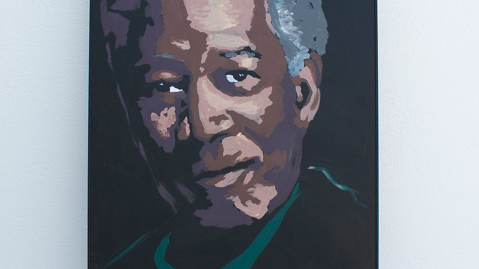 Morgan Freeman Live Painting