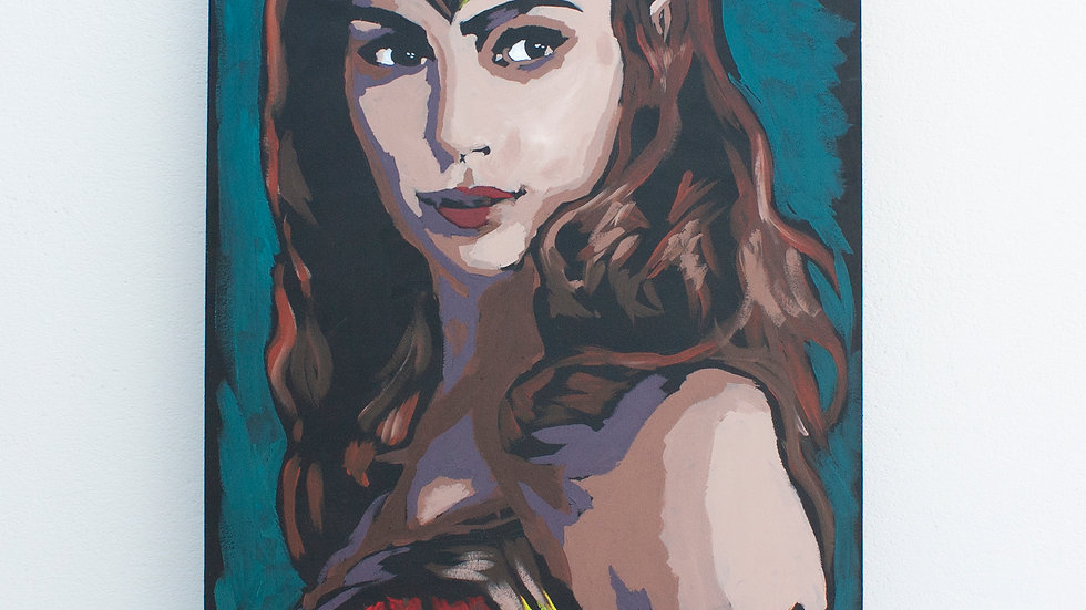 Wonder Woman Live Painting