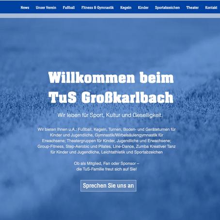 TuS-Homepage in neuem Design