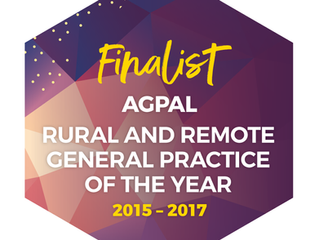 Nominated for Rural Practice of the Year!!