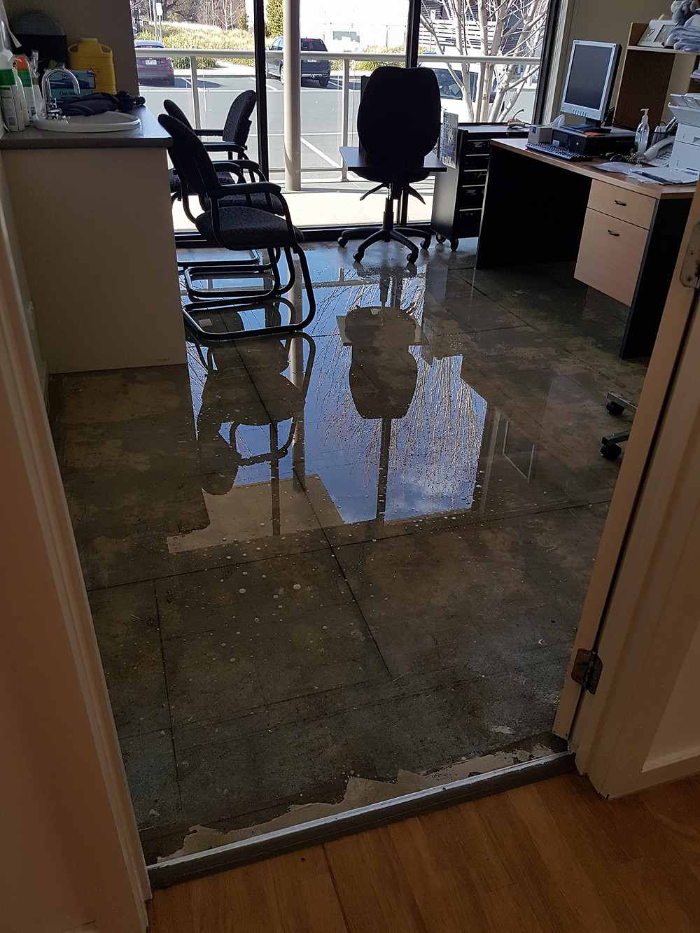 Flooded consulting room