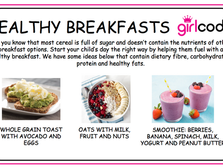 Check out these breakfast and lunch ideas!