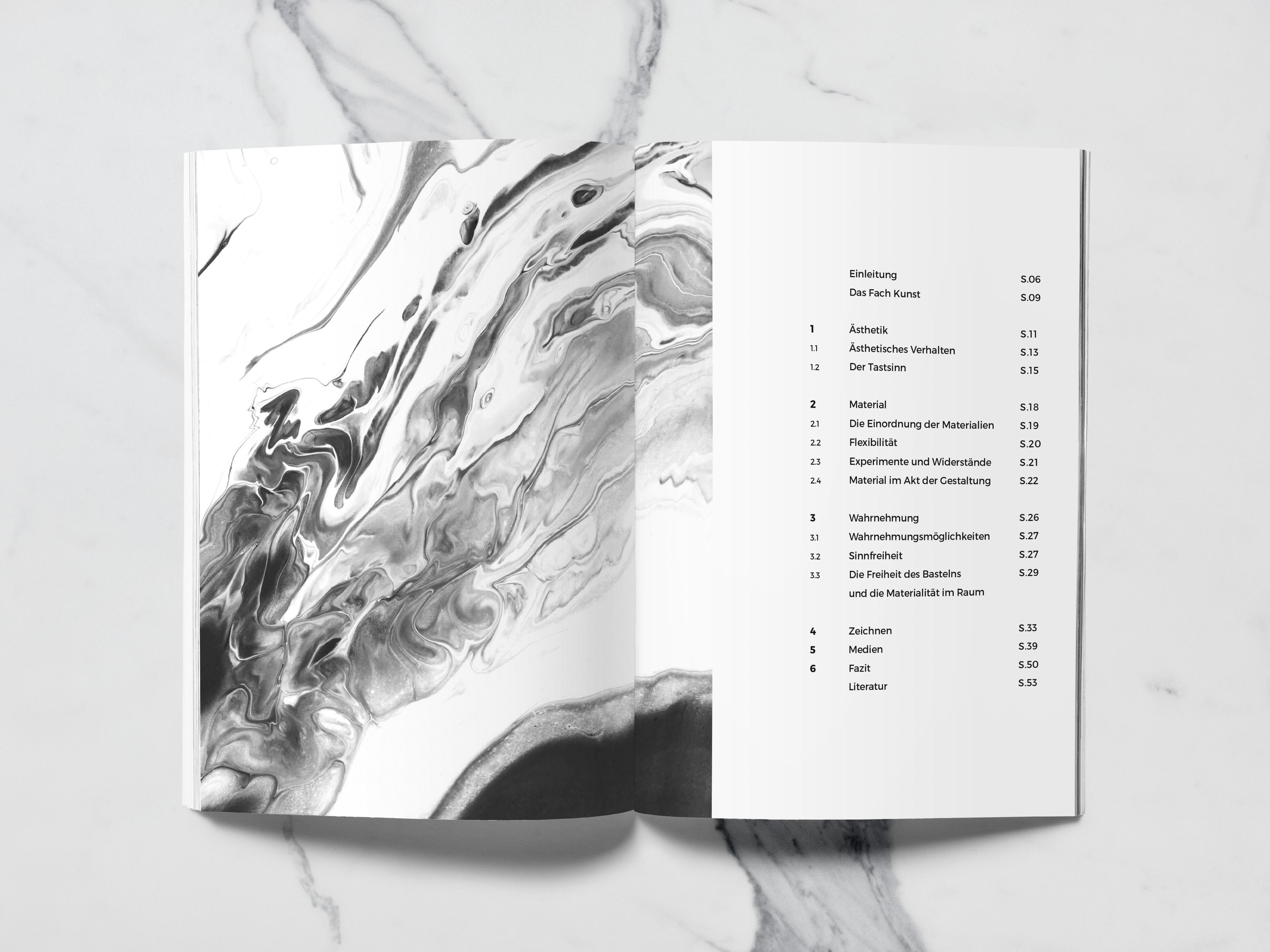 Booklet Inhaltsverzeichnis