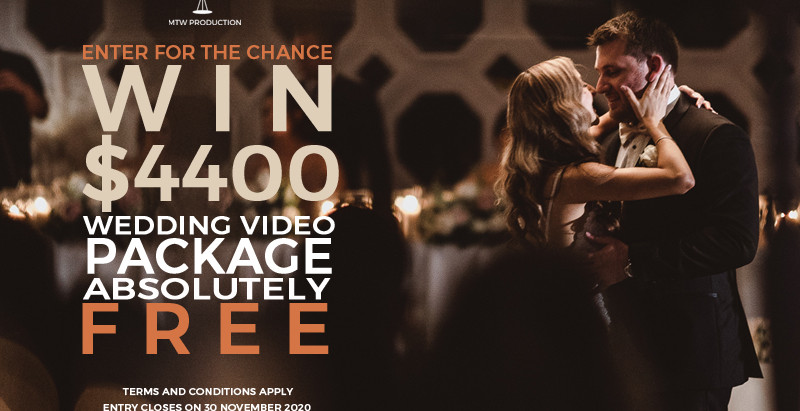 WIN $4400 Wedding Video Package Giveaway - Limited Entry