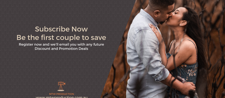 Subscribe Now and be the first engaged couple to save