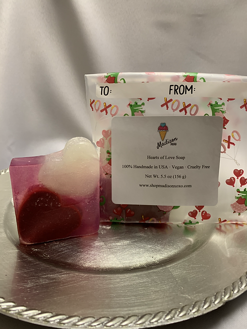 Hearts of Love Soap