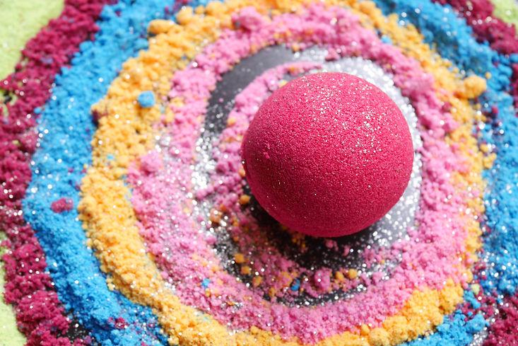 Bath bombs, colorful, Galaxy bath bombs.