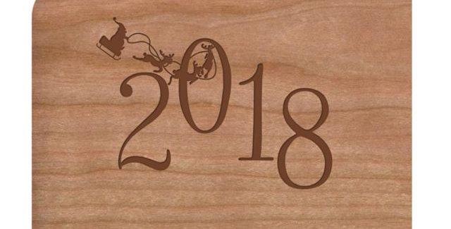 Holzpost Grußkarte -2018