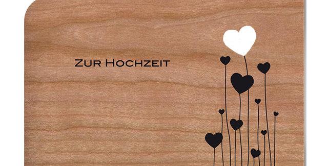 Holzpost Grußkarte -Zur Hochzeit