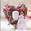 Thumbnail: Stehendes Blumenherz für Urnenbeisetzung