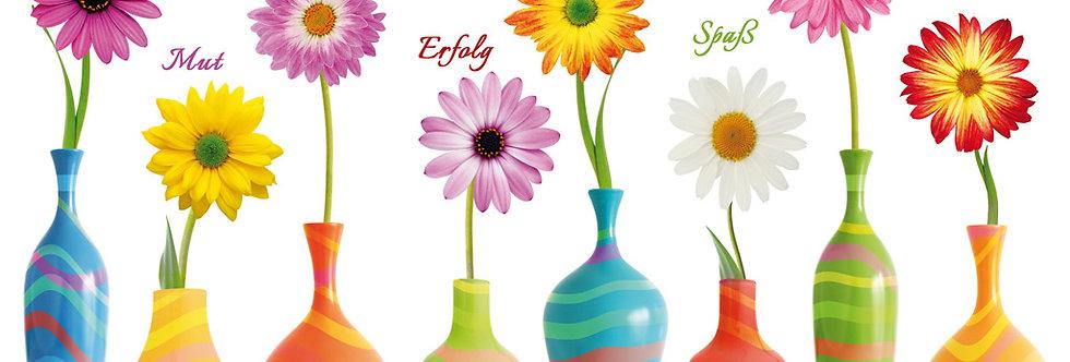 Geburtstag - Bunte Vasen