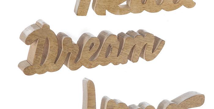"""Schriftzug """"Relax / Home / Dream"""""""