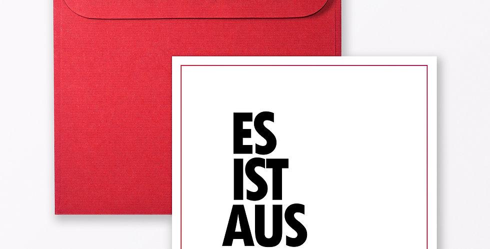 """2-teiliges Set Design GRUSSKARTE """"Es ist aus"""""""