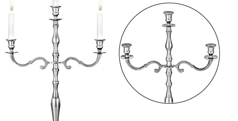 Kopie von Kerzenleuchter 3armig  silber- Nr.104