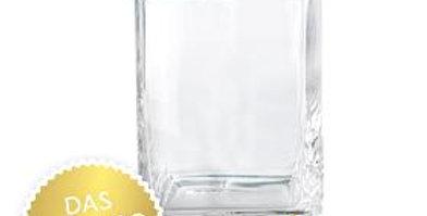 Rechteckige Glasvase groß