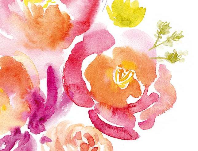 Ohne Worte - Bunte Blumen Malerei