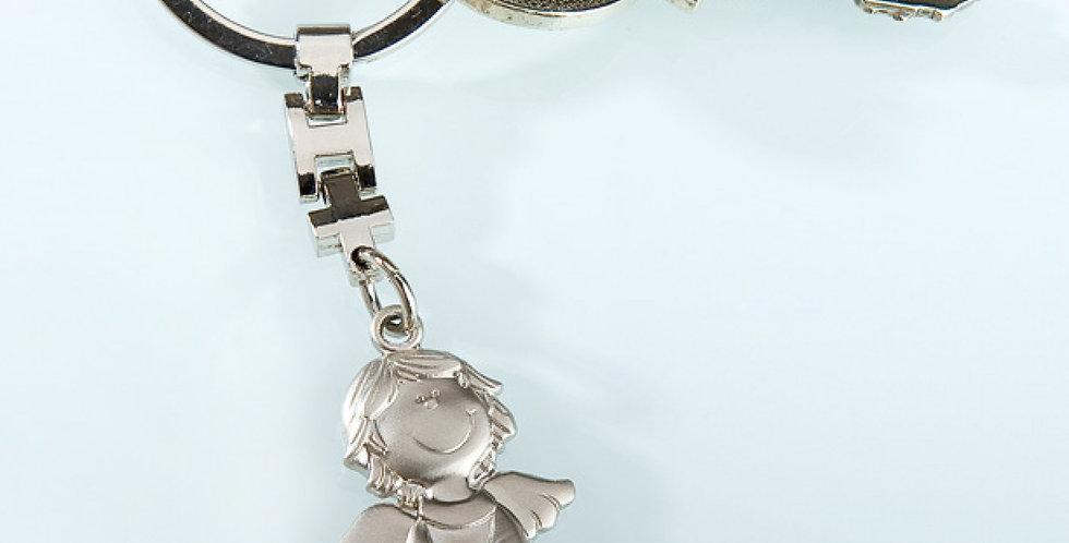 Schlüsselhänger Schutzengel mit Herz