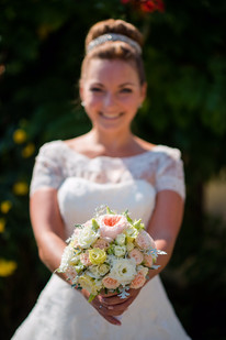 Brautstrauß in pastell tönen