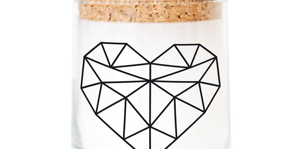 Feel Good Candle - Duftkerze -Geometric Heart