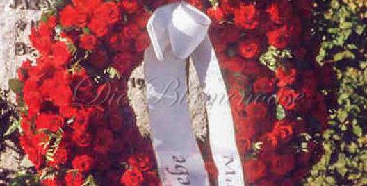 Trauerkranz only roses