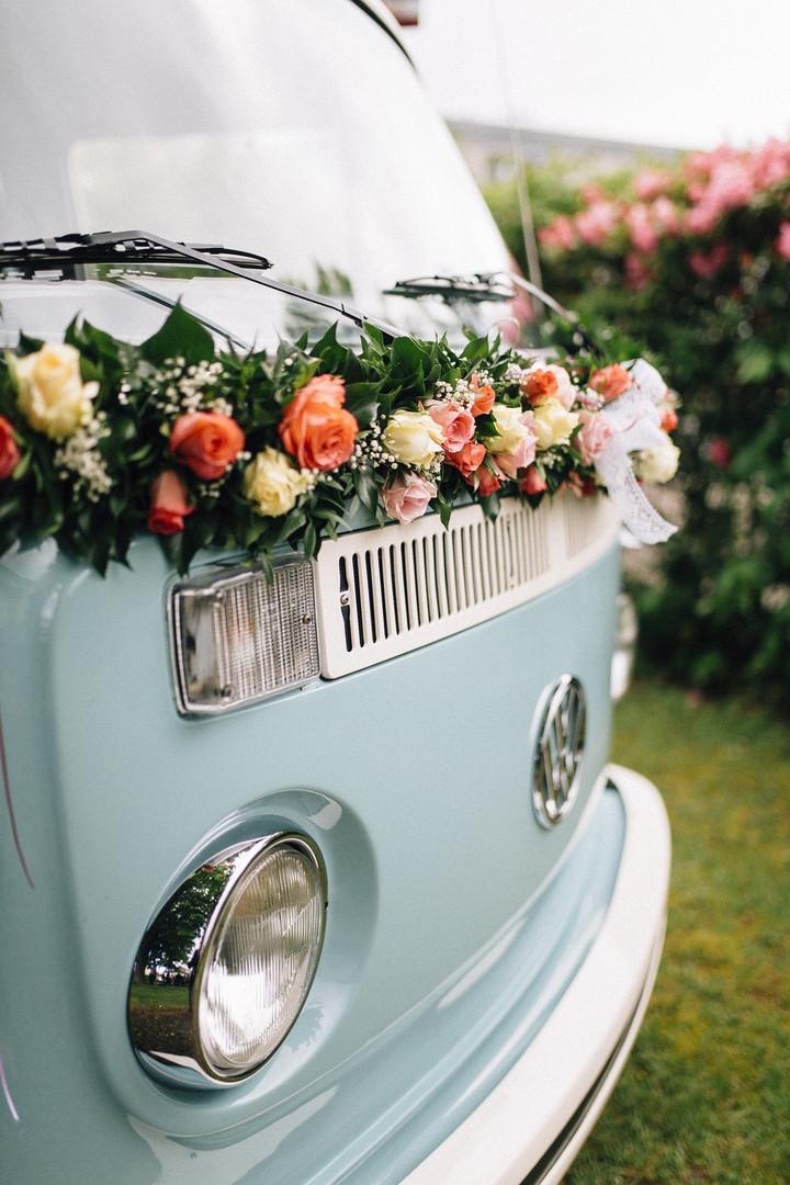 Blumengirlande für Bulli