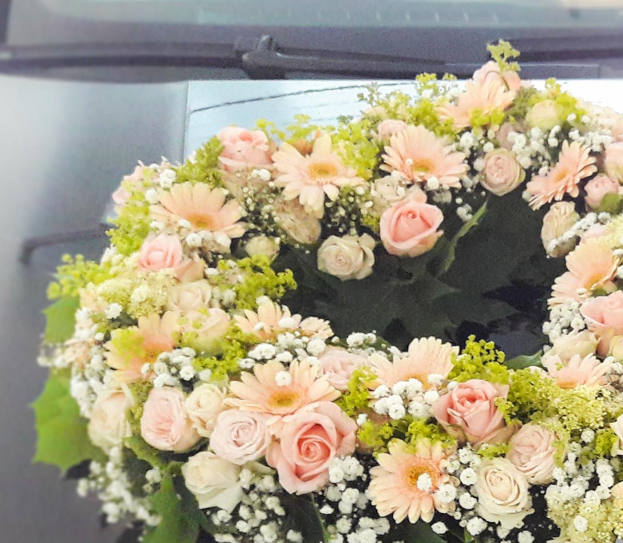 Blumenherz für Braut & Bräutigam
