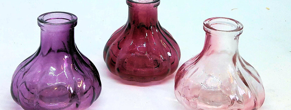 Glasväschen rot I rosa I Lila- Nr.60