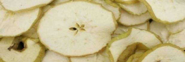 Apfelscheiben grün