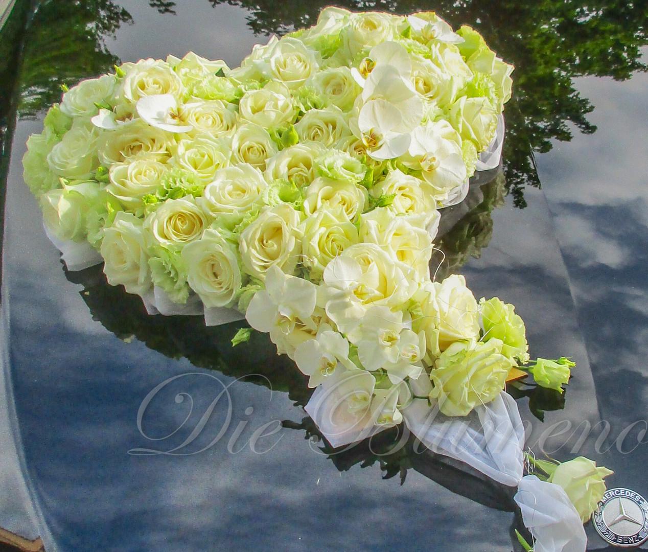 Blumenherz für Autodekoration