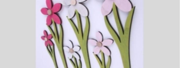 Blumen Stecker, Bunte Blumen, Deko,